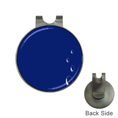 Bubbles Circle Blue Hat Clips With Golf Markers