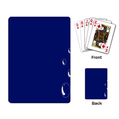 Bubbles Circle Blue Playing Card