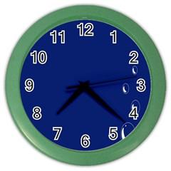 Bubbles Circle Blue Color Wall Clocks