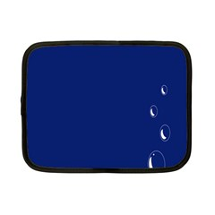 Bubbles Circle Blue Netbook Case (Small)