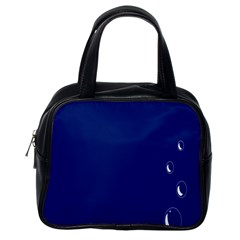 Bubbles Circle Blue Classic Handbags (One Side)