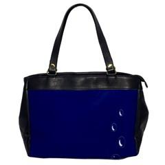 Bubbles Circle Blue Office Handbags