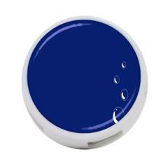Bubbles Circle Blue 4-Port USB Hub (One Side)