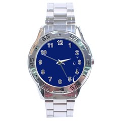 Bubbles Circle Blue Stainless Steel Analogue Watch