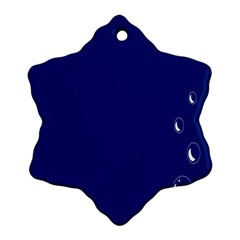 Bubbles Circle Blue Snowflake Ornament (Two Sides)
