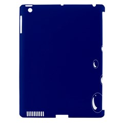 Bubbles Circle Blue Apple iPad 3/4 Hardshell Case (Compatible with Smart Cover)