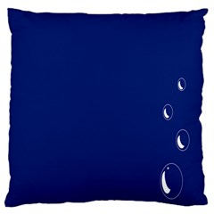 Bubbles Circle Blue Large Cushion Case (Two Sides)