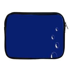Bubbles Circle Blue Apple iPad 2/3/4 Zipper Cases