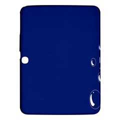Bubbles Circle Blue Samsung Galaxy Tab 3 (10.1 ) P5200 Hardshell Case
