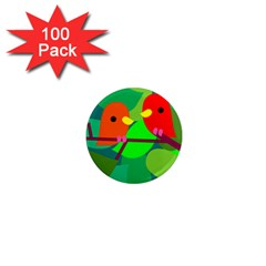 Animals Birds Red Orange Green Leaf Tree 1  Mini Magnets (100 Pack)