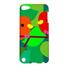 Animals Birds Red Orange Green Leaf Tree Apple iPod Touch 5 Hardshell Case
