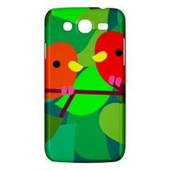 Animals Birds Red Orange Green Leaf Tree Samsung Galaxy Mega 5.8 I9152 Hardshell Case