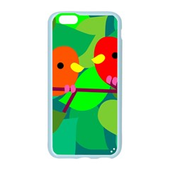 Animals Birds Red Orange Green Leaf Tree Apple Seamless iPhone 6/6S Case (Color)