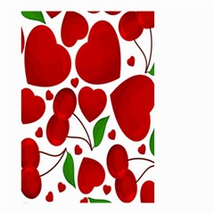 Cherry Fruit Red Love Heart Valentine Green Small Garden Flag (Two Sides)