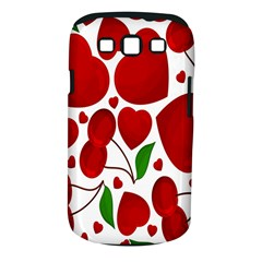 Cherry Fruit Red Love Heart Valentine Green Samsung Galaxy S Iii Classic Hardshell Case (pc+silicone)