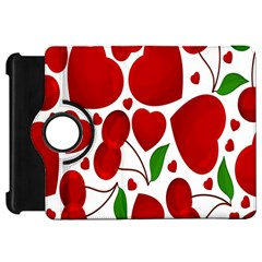 Cherry Fruit Red Love Heart Valentine Green Kindle Fire HD 7