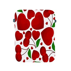Cherry Fruit Red Love Heart Valentine Green Apple iPad 2/3/4 Protective Soft Cases