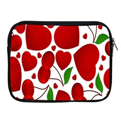 Cherry Fruit Red Love Heart Valentine Green Apple iPad 2/3/4 Zipper Cases