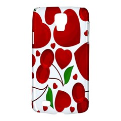 Cherry Fruit Red Love Heart Valentine Green Galaxy S4 Active