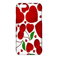 Cherry Fruit Red Love Heart Valentine Green iPhone 6/6S TPU Case