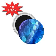 Circle Blue Purple 1.75  Magnets (10 pack)