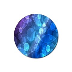 Circle Blue Purple Rubber Round Coaster (4 pack)