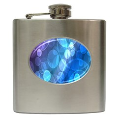 Circle Blue Purple Hip Flask (6 oz)