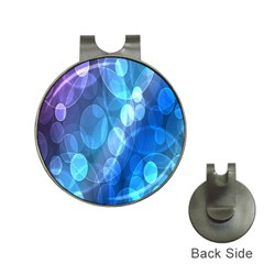 Circle Blue Purple Hat Clips with Golf Markers