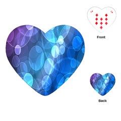 Circle Blue Purple Playing Cards (Heart)