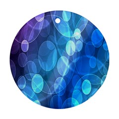 Circle Blue Purple Round Ornament (Two Sides)