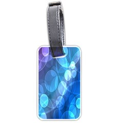 Circle Blue Purple Luggage Tags (one Side)