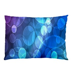 Circle Blue Purple Pillow Case (Two Sides)