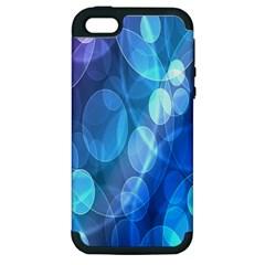 Circle Blue Purple Apple iPhone 5 Hardshell Case (PC+Silicone)