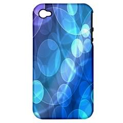Circle Blue Purple Apple iPhone 4/4S Hardshell Case (PC+Silicone)