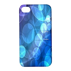 Circle Blue Purple Apple iPhone 4/4S Hardshell Case with Stand