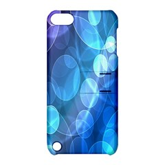 Circle Blue Purple Apple iPod Touch 5 Hardshell Case with Stand
