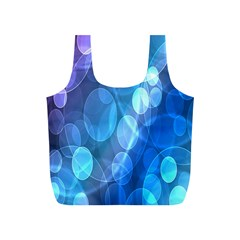 Circle Blue Purple Full Print Recycle Bags (S)