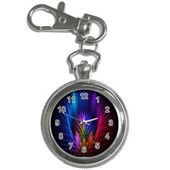 Bird Feathers Rainbow Color Pink Purple Blue Orange Gold Key Chain Watches