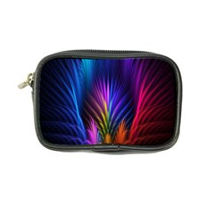 Bird Feathers Rainbow Color Pink Purple Blue Orange Gold Coin Purse