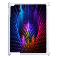 Bird Feathers Rainbow Color Pink Purple Blue Orange Gold Apple iPad 2 Case (White)