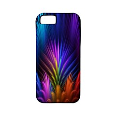 Bird Feathers Rainbow Color Pink Purple Blue Orange Gold Apple iPhone 5 Classic Hardshell Case (PC+Silicone)