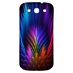 Bird Feathers Rainbow Color Pink Purple Blue Orange Gold Samsung Galaxy S3 S Iii Classic Hardshell Back Case