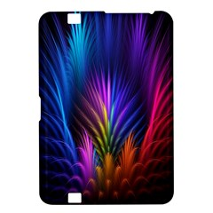 Bird Feathers Rainbow Color Pink Purple Blue Orange Gold Kindle Fire HD 8.9