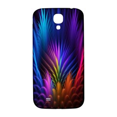 Bird Feathers Rainbow Color Pink Purple Blue Orange Gold Samsung Galaxy S4 I9500/i9505  Hardshell Back Case