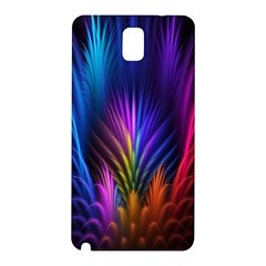Bird Feathers Rainbow Color Pink Purple Blue Orange Gold Samsung Galaxy Note 3 N9005 Hardshell Back Case