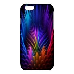 Bird Feathers Rainbow Color Pink Purple Blue Orange Gold iPhone 6/6S TPU Case