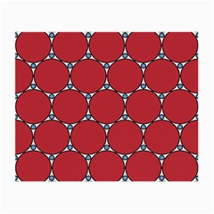 Circle Red Purple Small Glasses Cloth (2-Side)