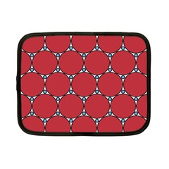 Circle Red Purple Netbook Case (Small)