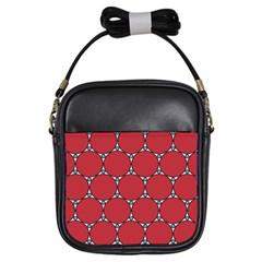 Circle Red Purple Girls Sling Bags