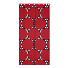 Circle Red Purple Shower Curtain 36  x 72  (Stall)
